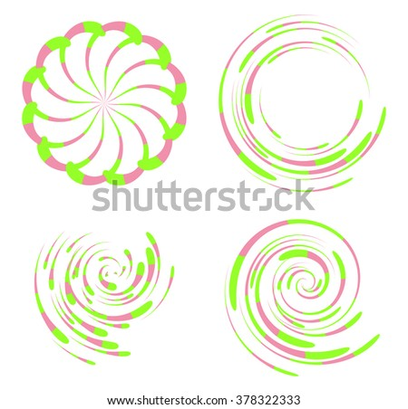 Swirl objects set.