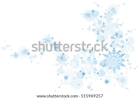 swirl blue christmas snowflakes on white stock vector royalty free