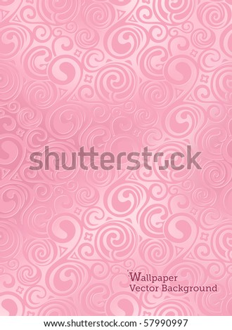 Swirl Pattern, Vector Background - stock vector