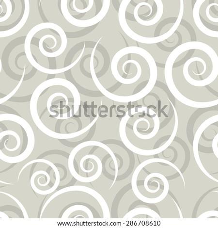 Swirl seamless pattern, vector illustration for Your design, eps10 - stock vector
