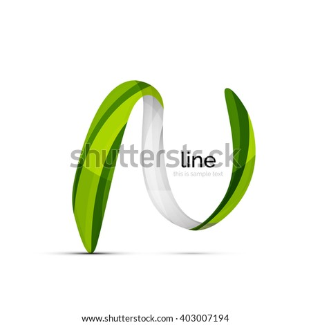 Swirl wavy ribbon, abstract concept. Vector business logo