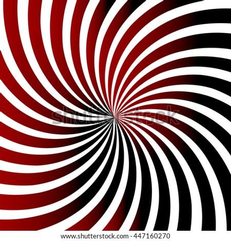 Swirling radial pattern background vith gradient. Vector illustration - stock vector