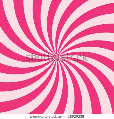 Swirling radial vortex background. Pink stripes swirling around the center of the square. Vector illustration in EPS8 format. - stock vector
