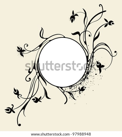swirly background - stock vector