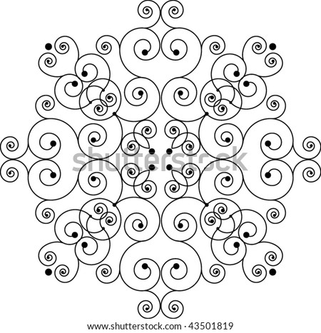 Swirly cross - stock vector