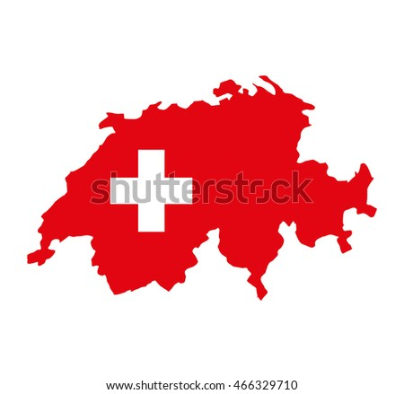 Swiss emblem isolated icon vector illustration graphic