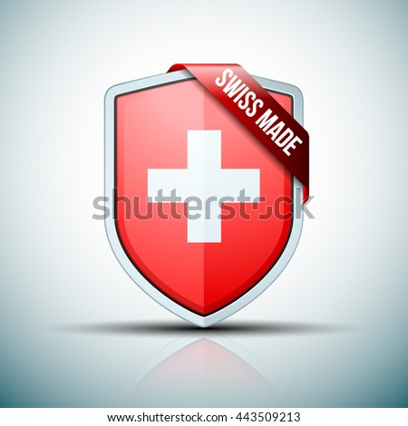 Swiss Made shield sign