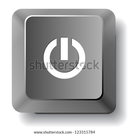 Switch element. Vector computer key. - stock vector