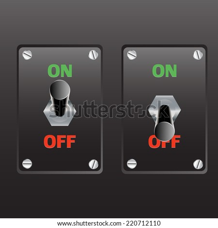 switch  on -off  - stock vector