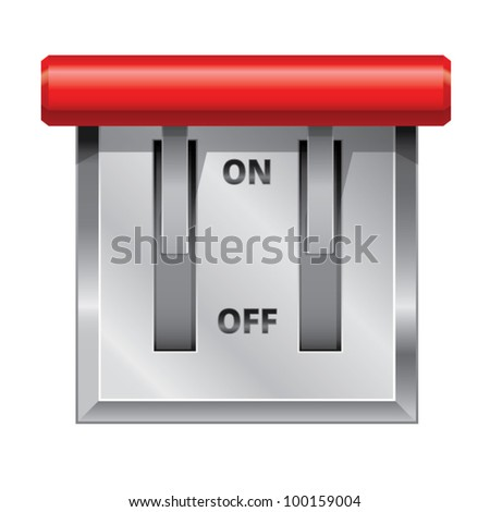 Switch to completely turn off power supply of the building - stock vector