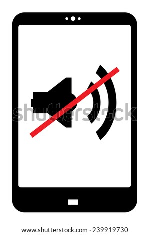 switch your mobile device sound off - stock vector