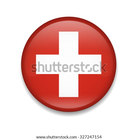 Switzerland Button Flag