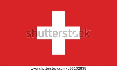switzerland Flag for Independence Day and infographic Vector illustration. - stock vector