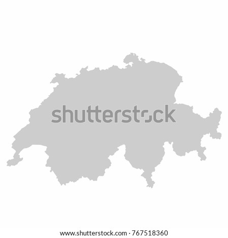 Switzerland World Map Country Outline Graphic Stock Vector