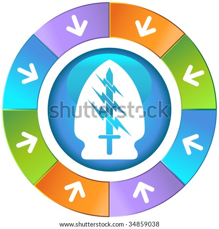 sword lightning special forces icon wheel