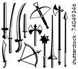 sword set - stock photo