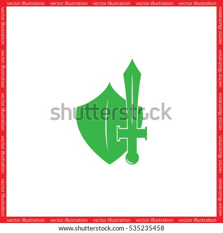 sword shield icon vector illustration eps10.