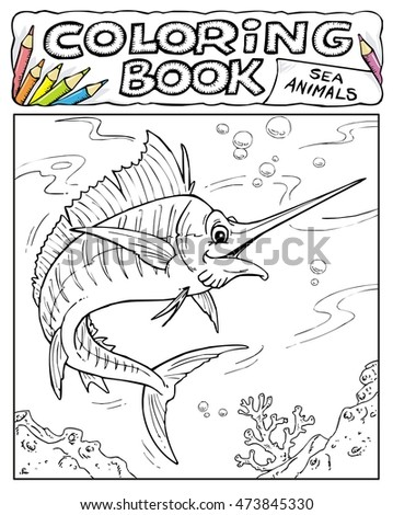 Xiphias Coloring Page Swordfish Stock...
