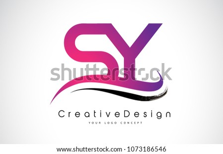 sy s y letter logo design in black colors creative modern letters vector icon logo illustration
