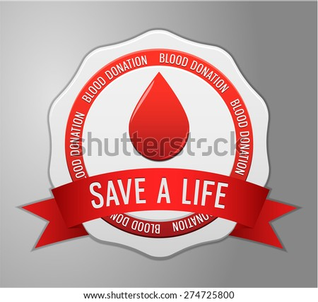 Symbol Blood donation  - stock vector