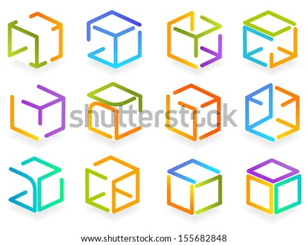 symbol color box - stock vector