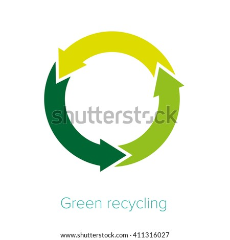 Symbol. Eco. Recycled. Nature. Vector