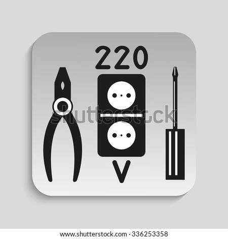 Symbol. Electrical work. Vector icon. - stock vector