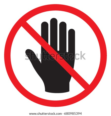 dont touch stock images royaltyfree images amp vectors