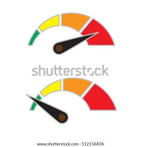 Symbol Min Max Speed Meter Stock-Vektorgrafik (Lizenzfrei) 512156836 ...