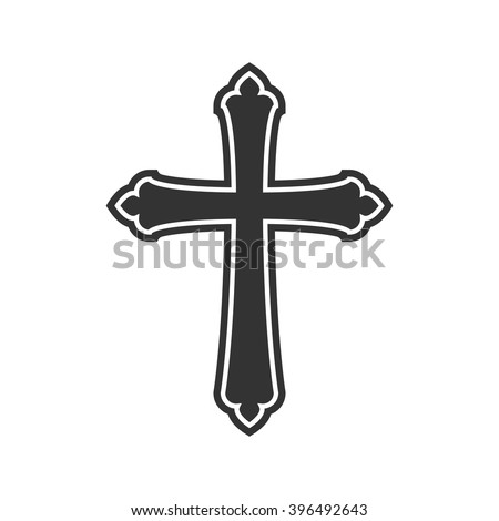 Symbol Church Cross Christianity Religion Symbol Stockvector