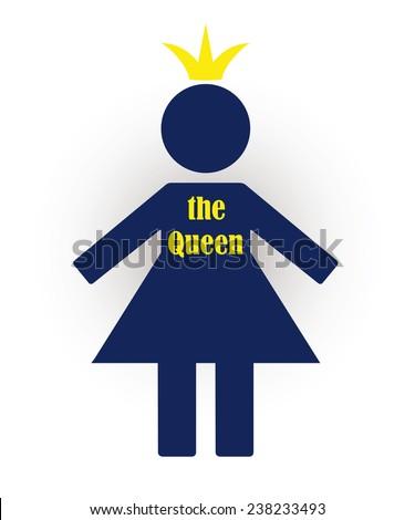 Symbol Woman Who Considers Herself Queen Stock Vector 238233493
