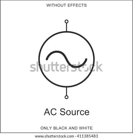 Symbol Ac Source Stock Vector 411385483 - Shutterstock