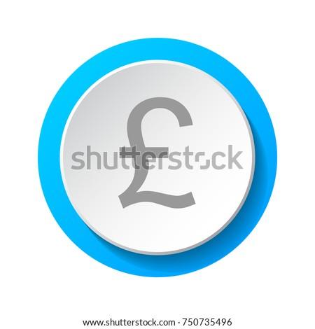 Symbol British Currency British Pound 3 D Stock Vector 750735496