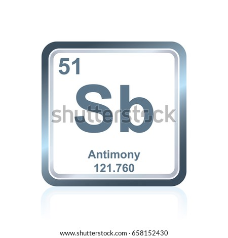Symbol Chemical Element Antimony Seen On Stock Vector 658152430