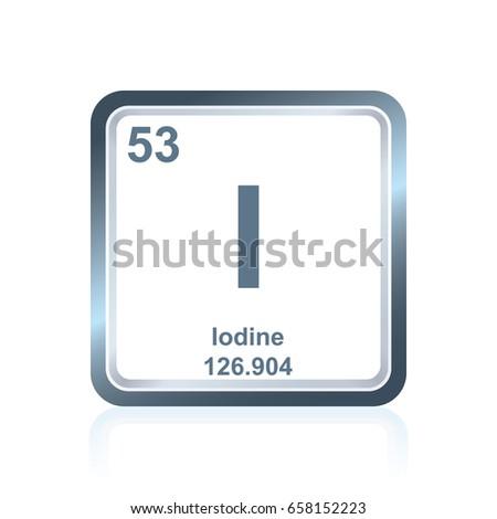 Symbol Chemical Element Iodine Seen On Stock Vector 658152223