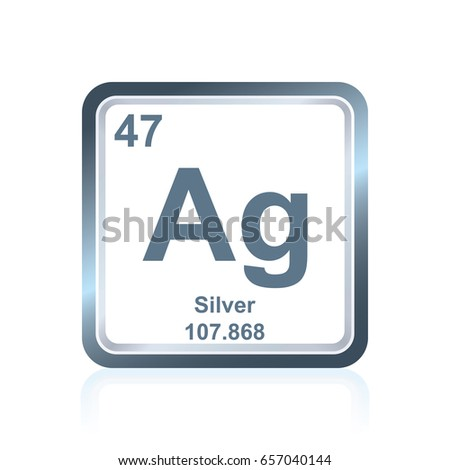 Aluminum symbolchemical element periodic table on stock vector symbol of chemical element silver as seen on the periodic table of the elements including urtaz Image collections