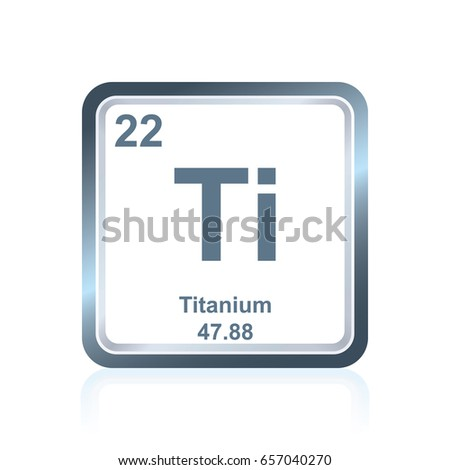 Symbol chemical element titanium seen on stock vector 657040270 symbol of chemical element titanium as seen on the periodic table of the elements including urtaz Choice Image