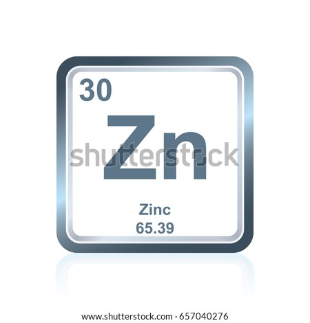 Symbol Chemical Element Zinc Seen On Stock Vector 657040276