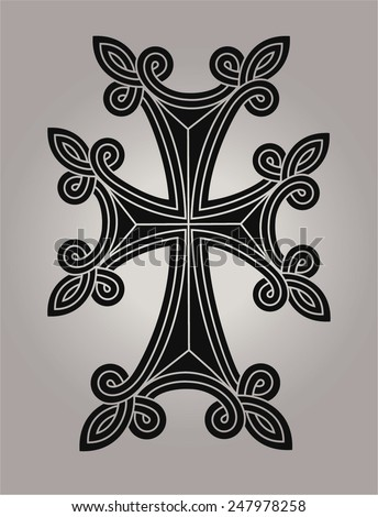 Symbol of Christianity, vector cross - stock vector