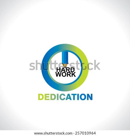 symbol of dedication idea concept - stock vector
