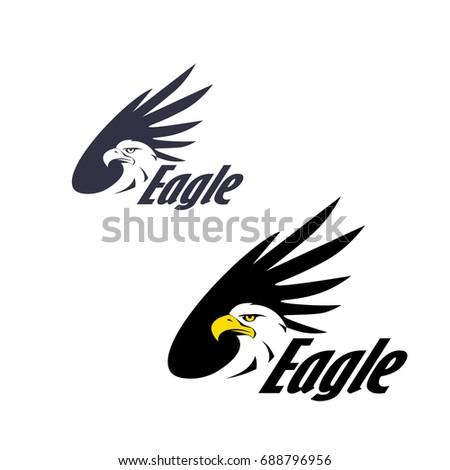 Symbol Eagle Hawk Predator Sport Team Stock Vector Royalty Free