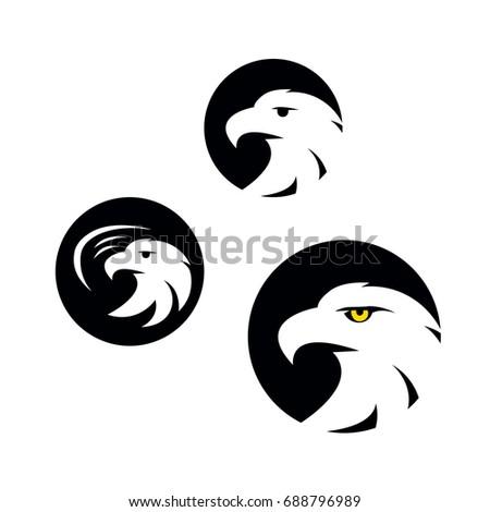 Symbol Eagle Hawk Predator Sport Team Stock Vector 688796989