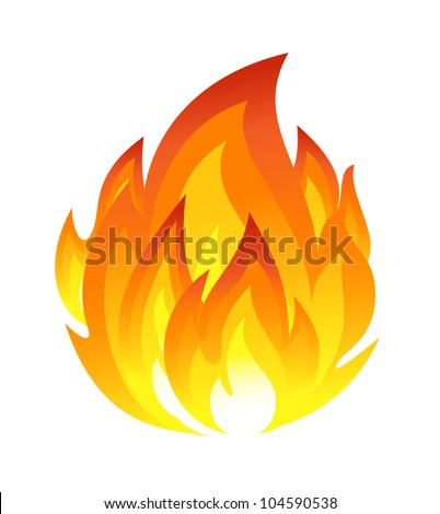 Symbol of fire - stock vector
