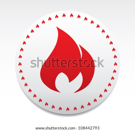 Symbol of fire.Vector
