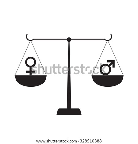Symbol of Gender Equality human - stock vector