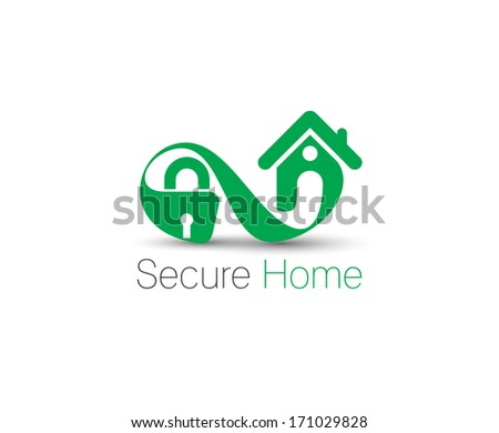 Symbol of Home Security, isolated vector design - stock vector