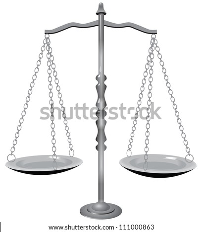 Symbol of justice - the scales. Vector illustration.