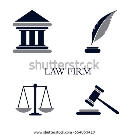 Symbol Law Justice Conceptual Law Justice Stock Vector 654053419