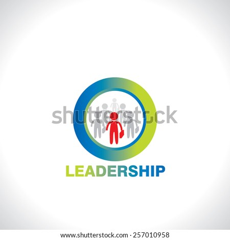 symbol of leadership idea concept - stock vector