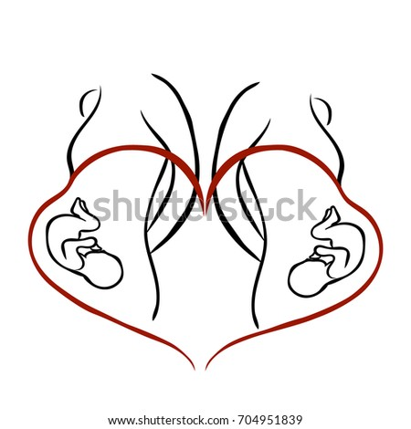Symbol Pregnancy Maternal Love Absolute Love Stock Vector 704951839